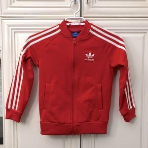EUC Adidas unisex zip jacket